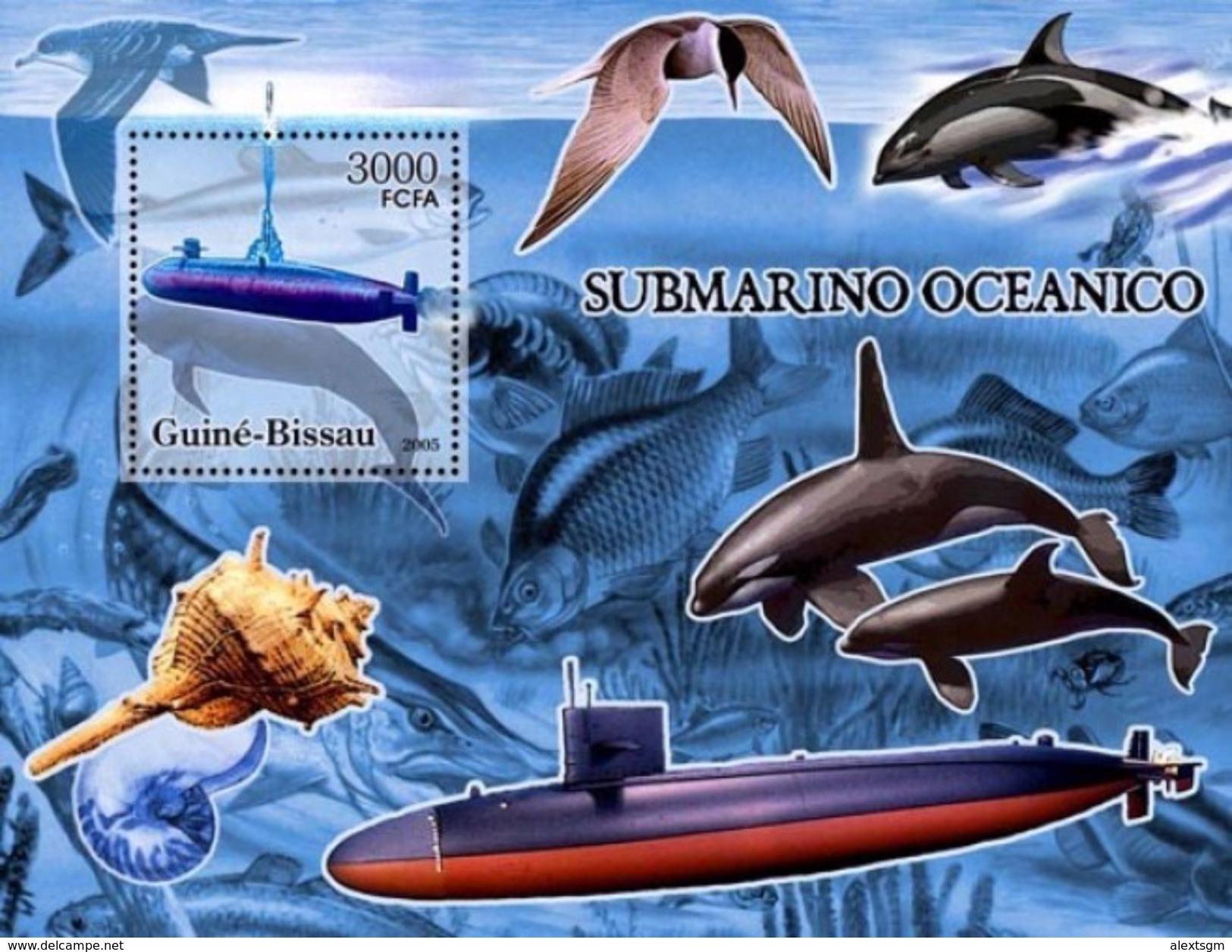 GUINEA BISSAU 2005 - Submarines, Water Scorpion - YT BF301 - Insekten