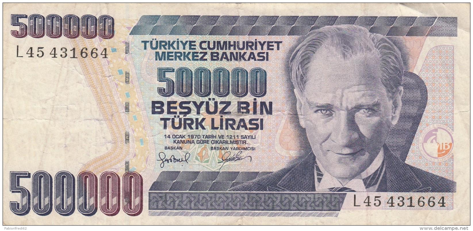TURCHIA 500000 LIRE - VF (BA220 - Turchia