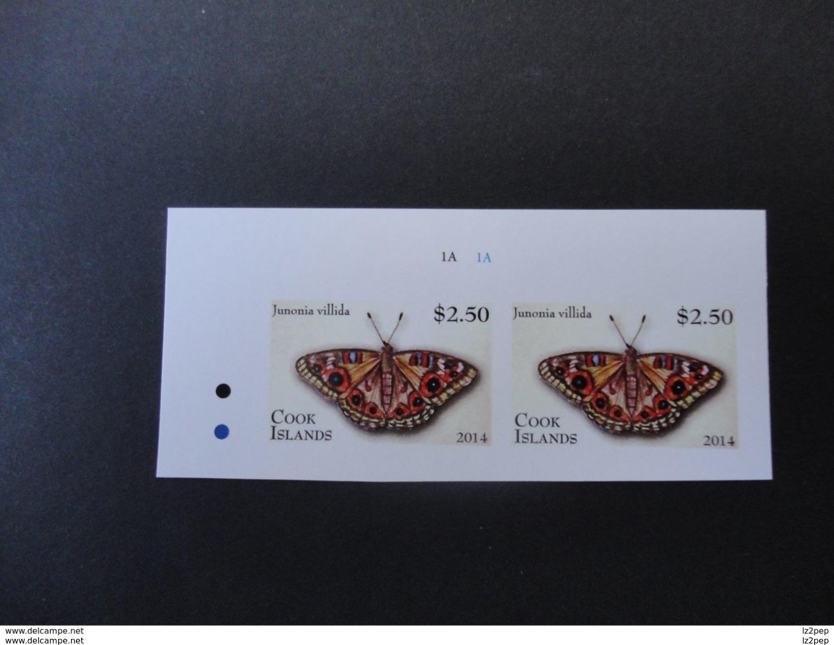 Cook Islands 2014 Imperforate PROOF Butterflies  VF - Schmetterlinge