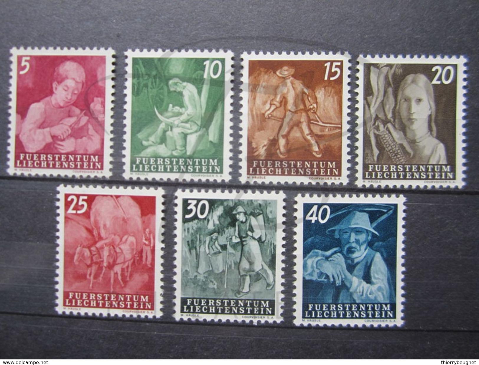 VEND BEAUX TIMBRES DU LIECHTENSTEIN N° 251 - 257 , XX !!! - Liechtenstein