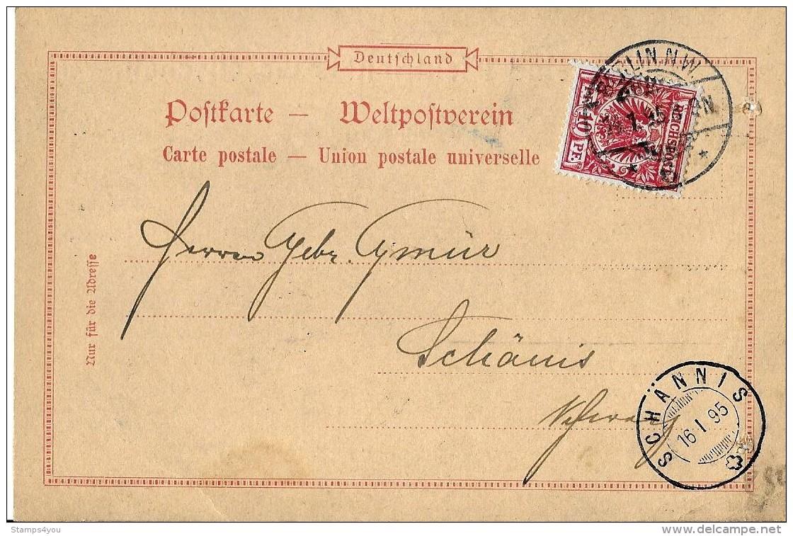 14-22 - Carte Envoyée De Berlin En Suisse 1895 - Attention Petit Trou - Deutschland