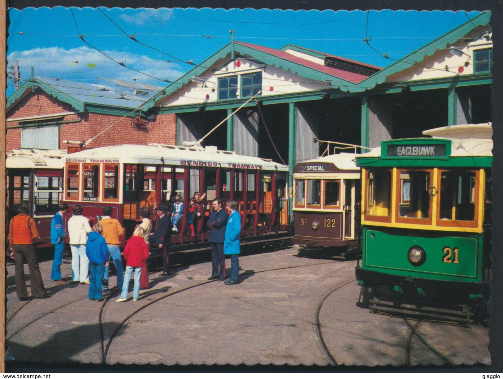 °°° 8105 - AUSTRALIA - BENDIGO VINTAGE TRAMWAY MUSEUM AND DEPOT - 1987 With Stanps °°° - Bendigo