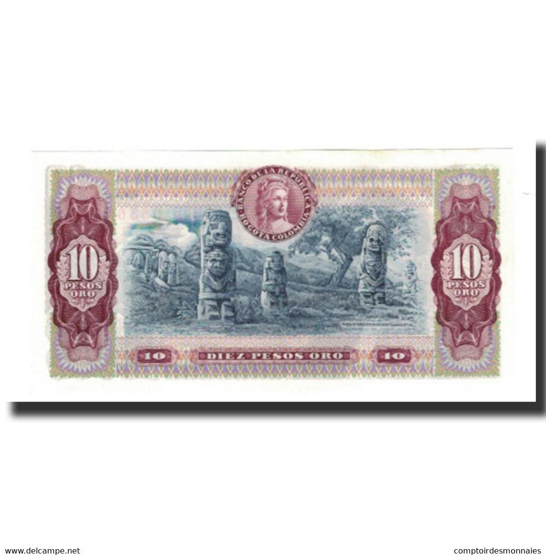 Colombie, 10 Pesos Oro, 1980-08-07, KM:407h, NEUF - Colombie