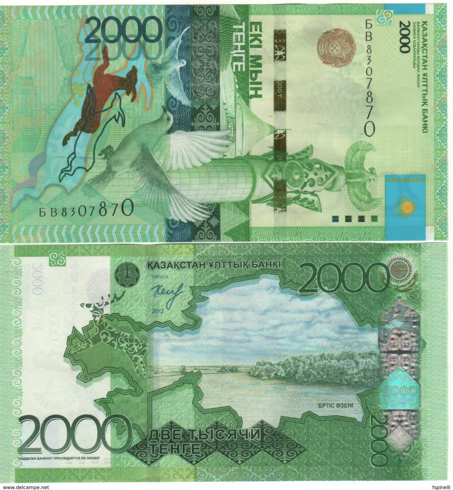 KAZAKHSTAN   New  2'000 Tenge  Pnew  Issued 2017  New Signature & Date - Kazakistan
