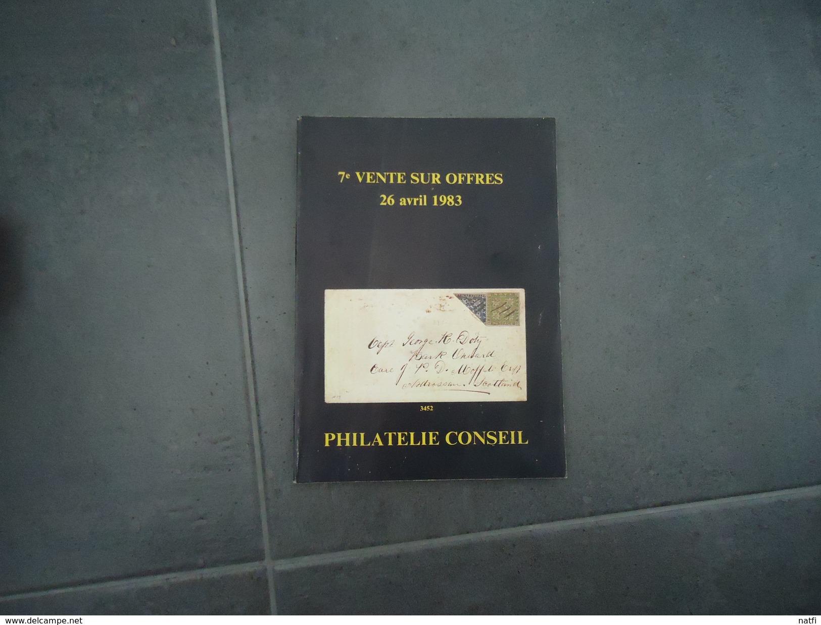 CATALOGUE  VENTES SUR OFFRES ALAIN HATIER 1983  PHILA CONSEIL VOIR PHOTOS - Frankrijk