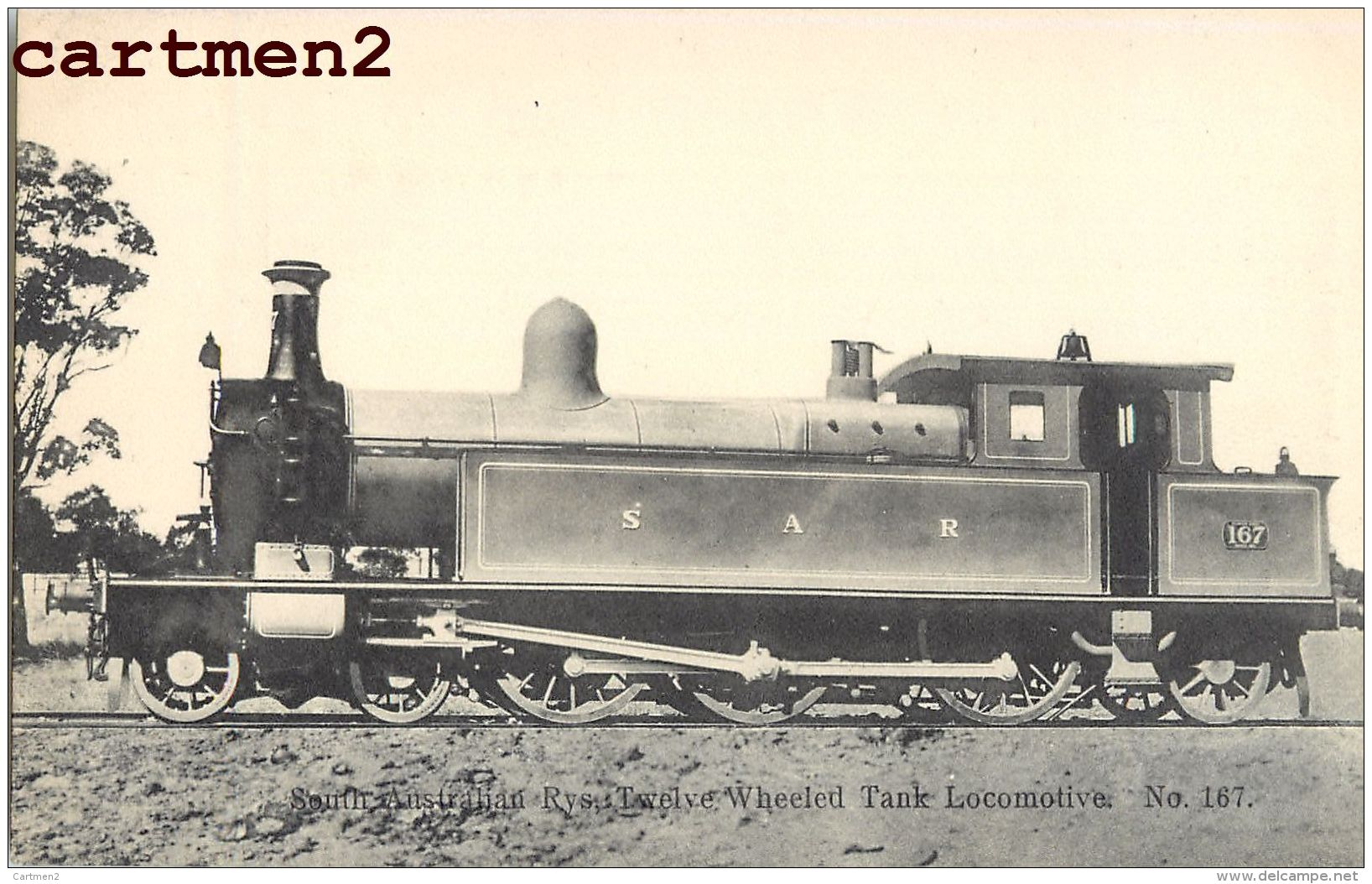 SOUTH AUSTRALIAN TWELVE WHEELED TANK LOCOMOTIVE AUSTRALIA LOKOMOTIVE TRAIN ZUG BAHNHOF TRENO LOCOMOTORA BAHN - Trains