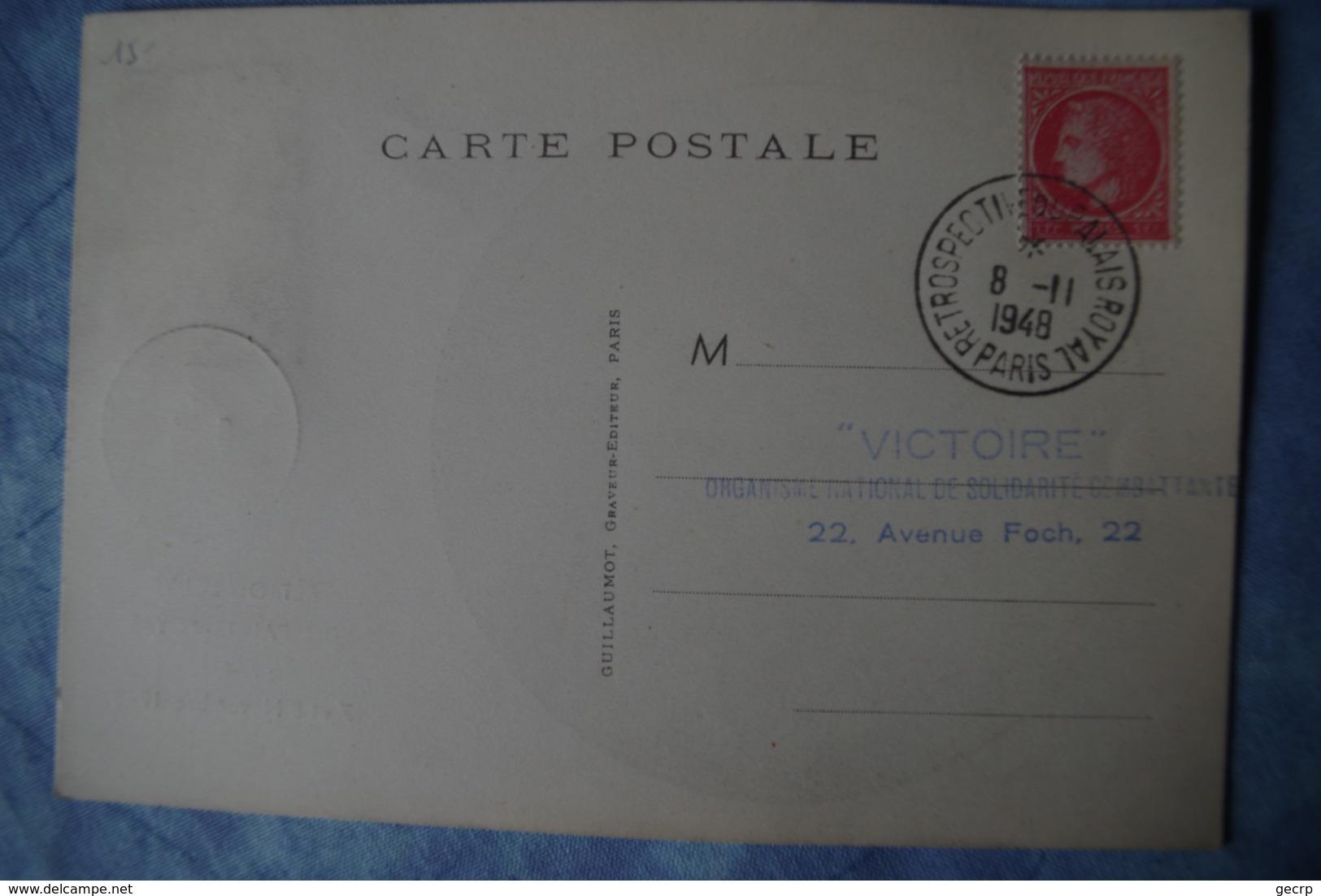 2-325 Victoire Paris Novembre 1948 Palais Royal Organisme National De Solidarité Nationale 2e Guerre Mondiale - 2. Weltkrieg