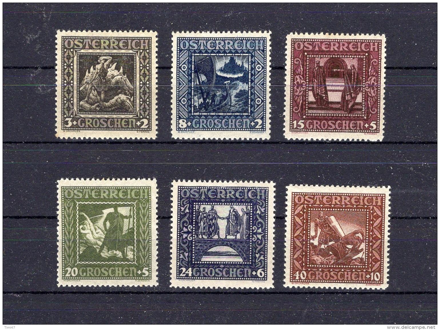 AUTRICHE 1926 Zumstein N° 462-467 Neuf X - Ungebraucht