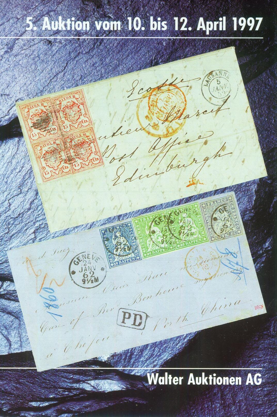 Walter Auktionen AG 1997 überwiegend Schweiz - Catalogi Van Veilinghuizen