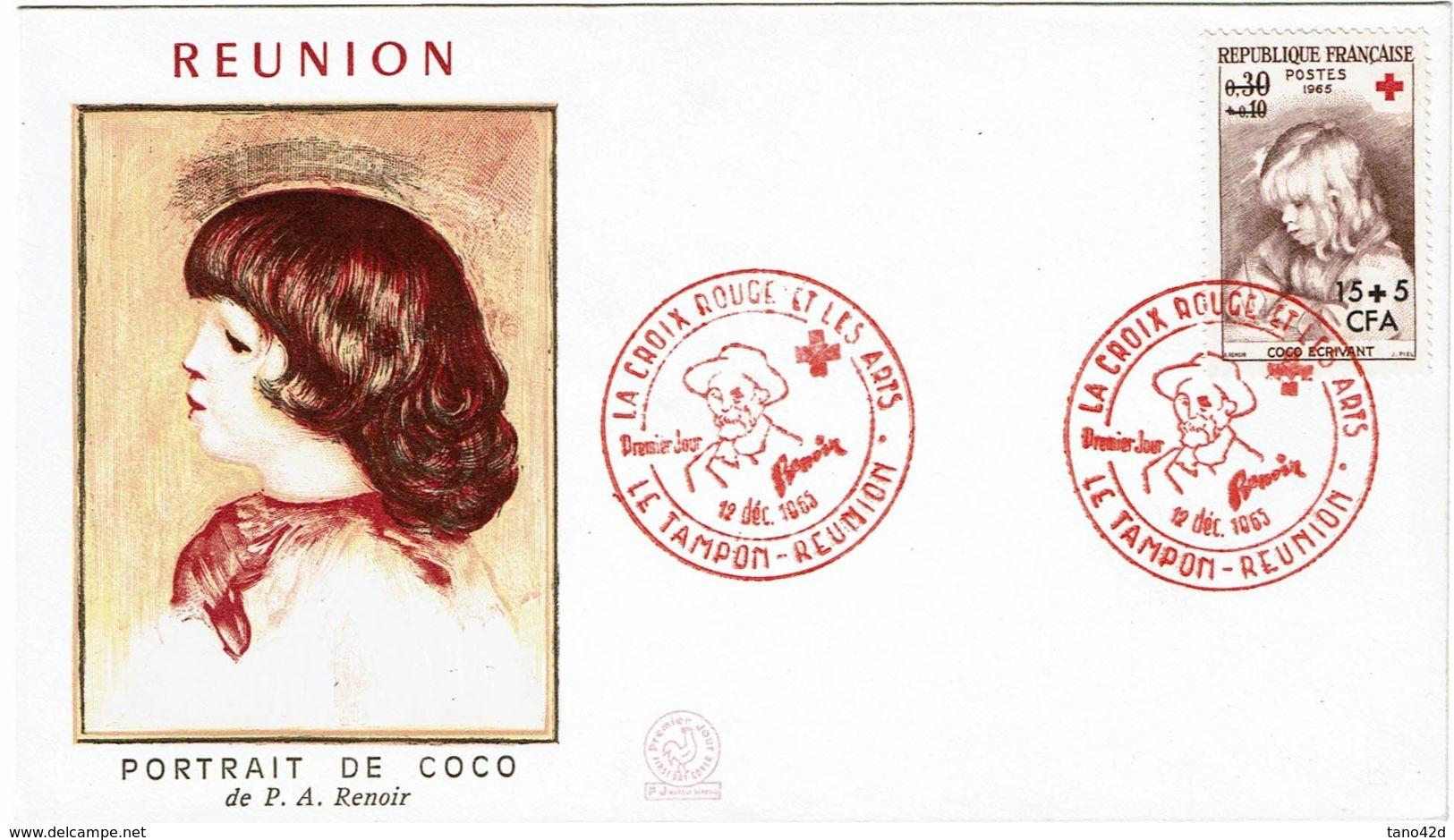 CTN50 - REUNION - 3 ENVELOPPES FDC - Reunion Island (1852-1975)