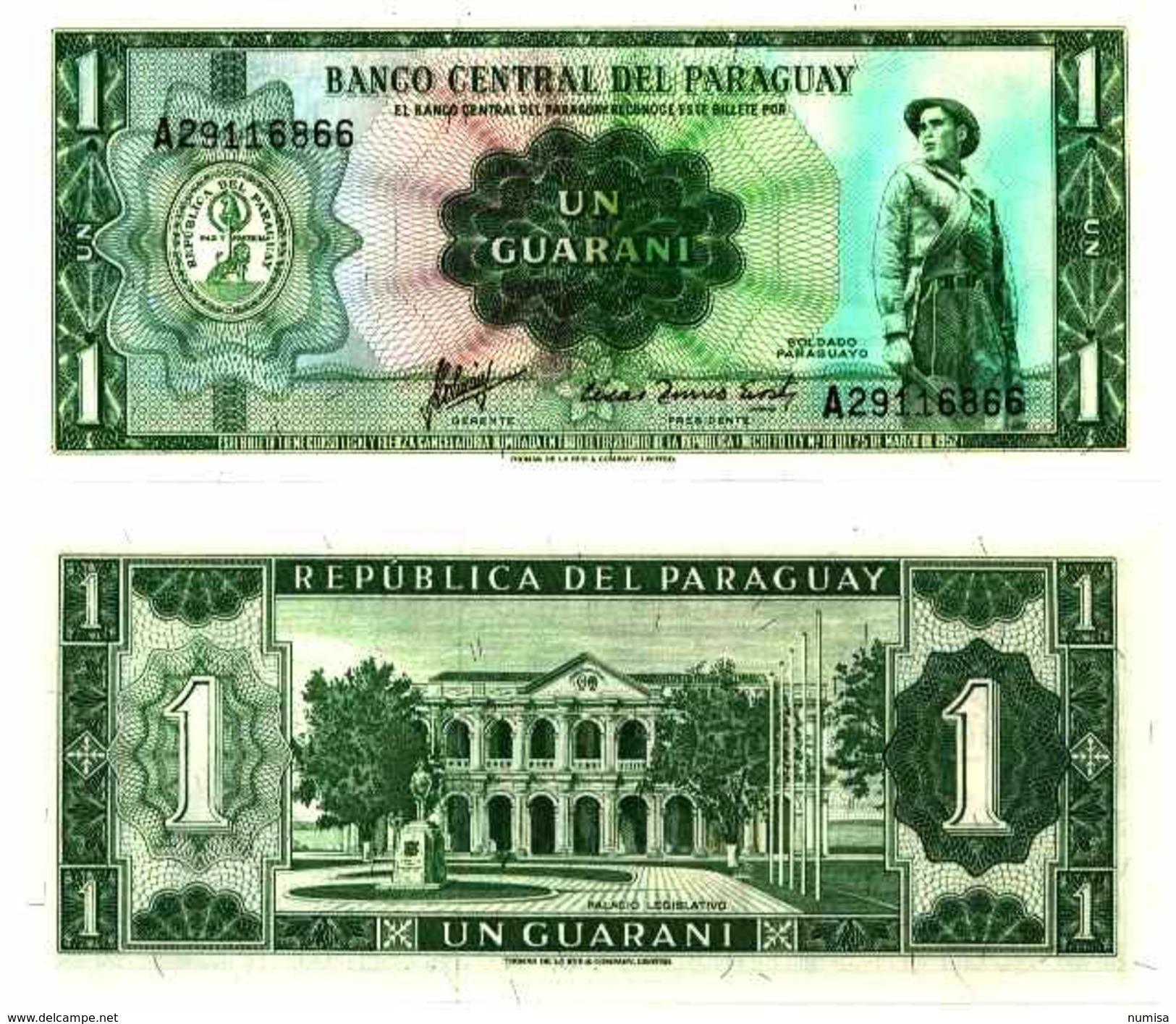 Paraguay 1 GUARANI (L 1952) Pick 193b NEUF- UNC - Paraguay