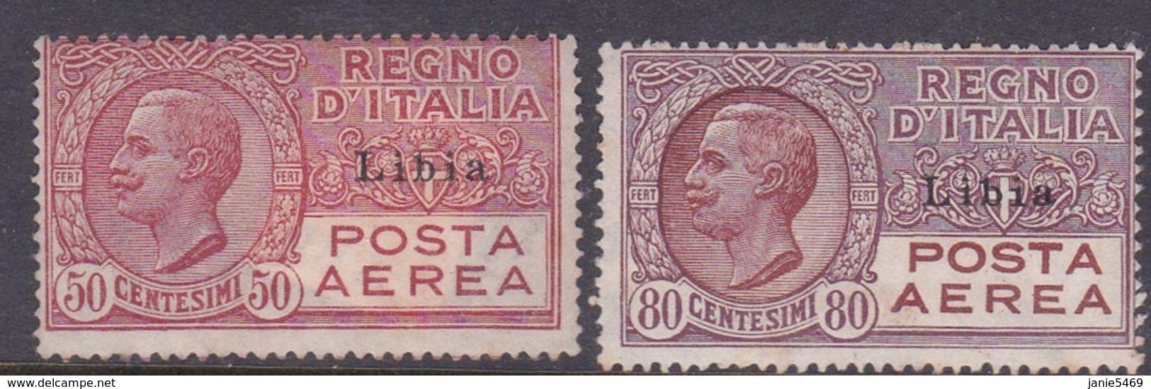 Italy-Colonies And Territories-Libya AP 1-2 1928 Air Post Light Hinged - Libya