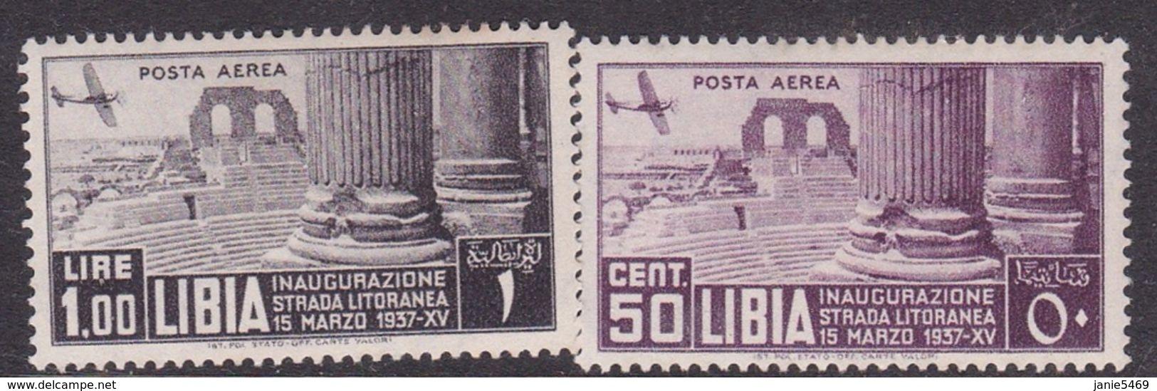 Italy-Colonies And Territories-Libya AP 32-33 1937 11th Tripoli Fair, Mint Hinged - Libya