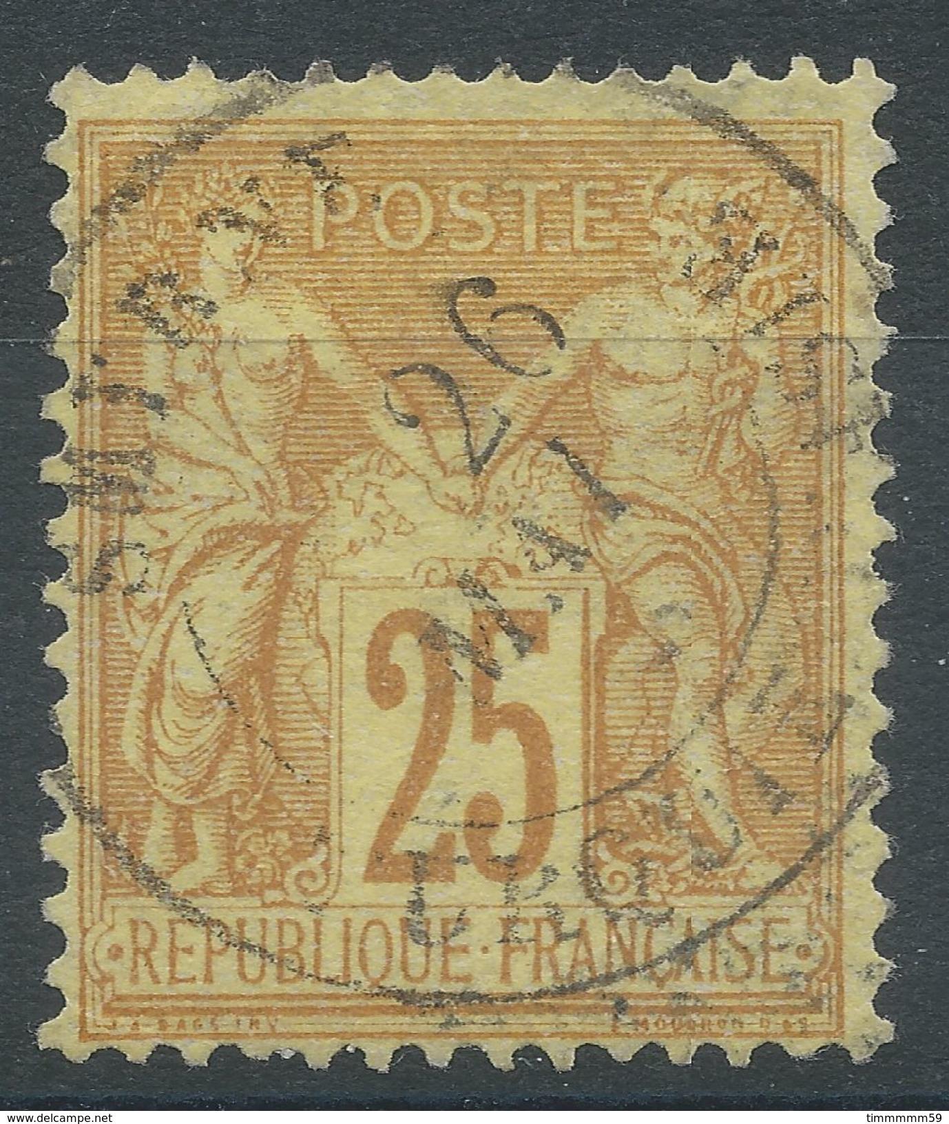 Lot N°37337  N°92, Oblit Cachet à Date étranger De SMYRNE (Turquie D'Asie) - 1876-1898 Sage (Type II)