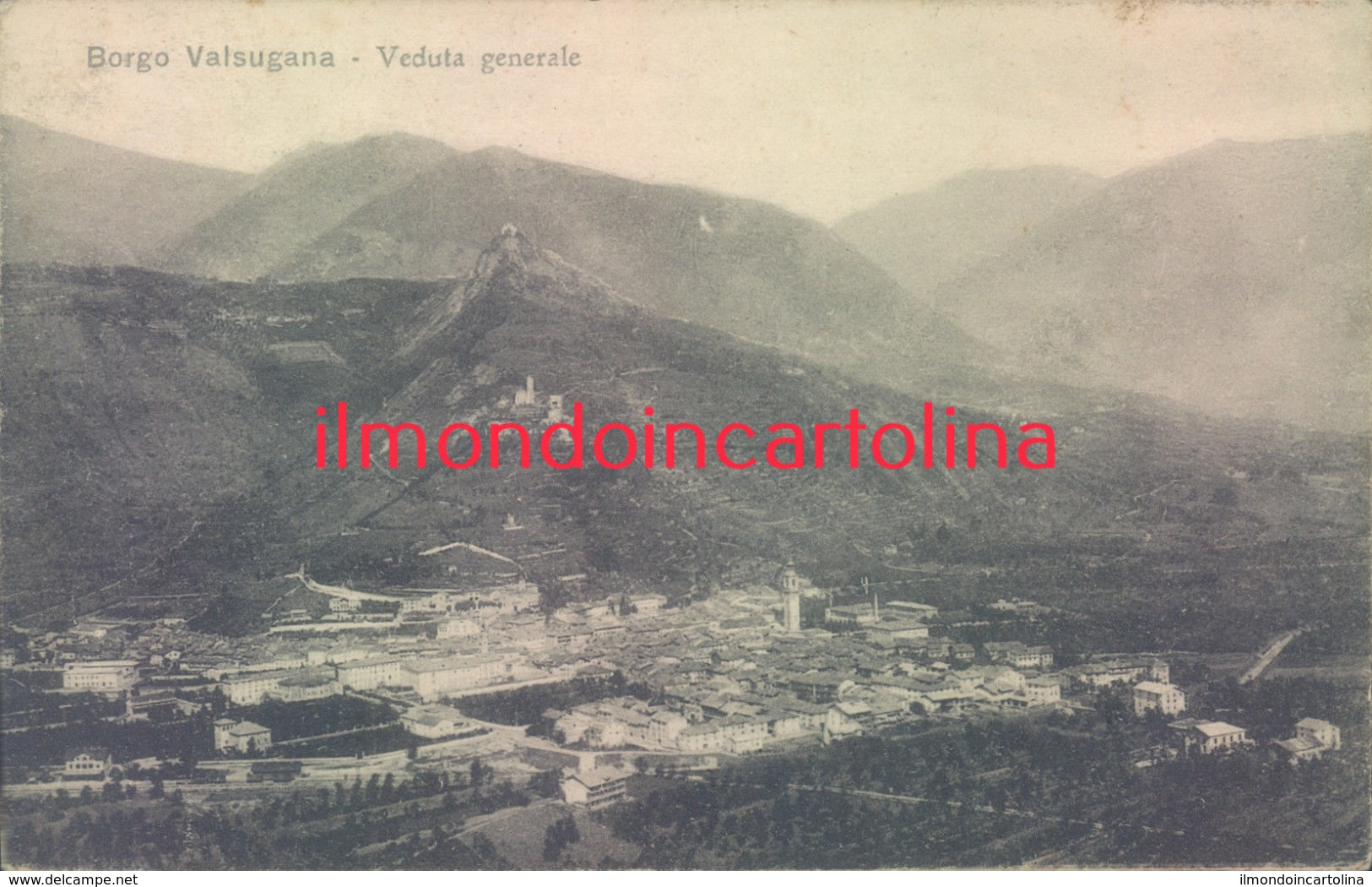 Q122 - Borgo Valsugana - Trento -  Veduta Generale-posta Militare - Trento