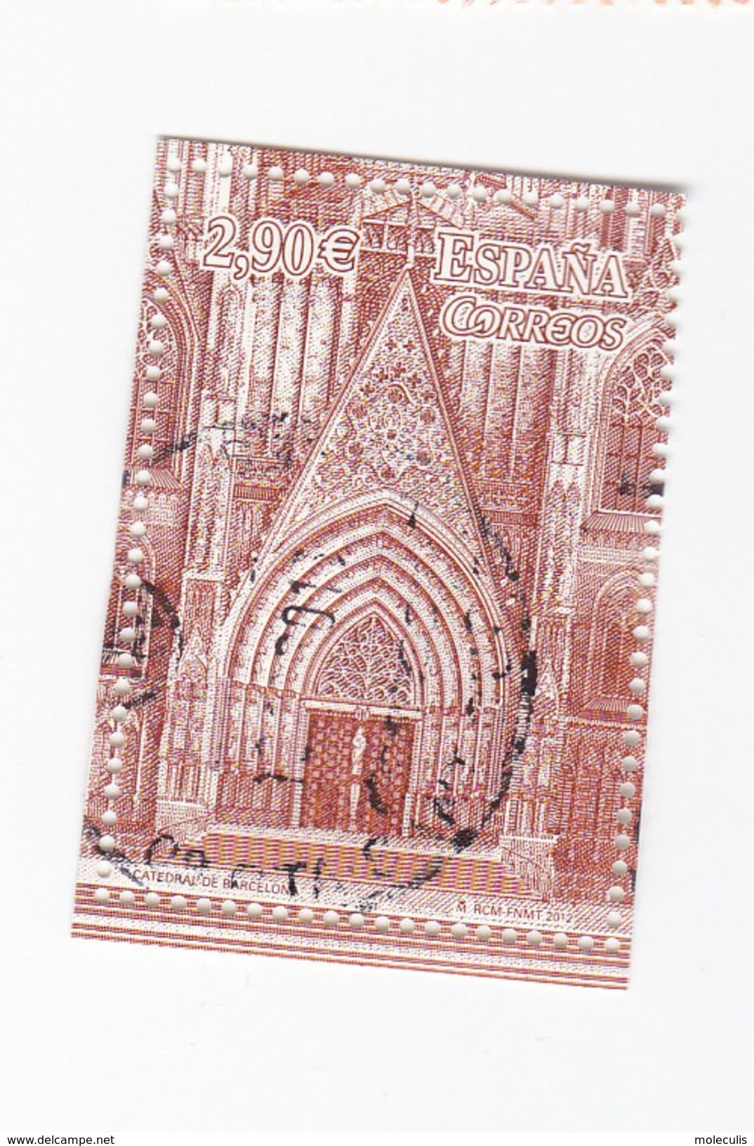 0,90 EUROS - Cathédrale De BARCELONE - 1931-Today: 2nd Rep - ... Juan Carlos I