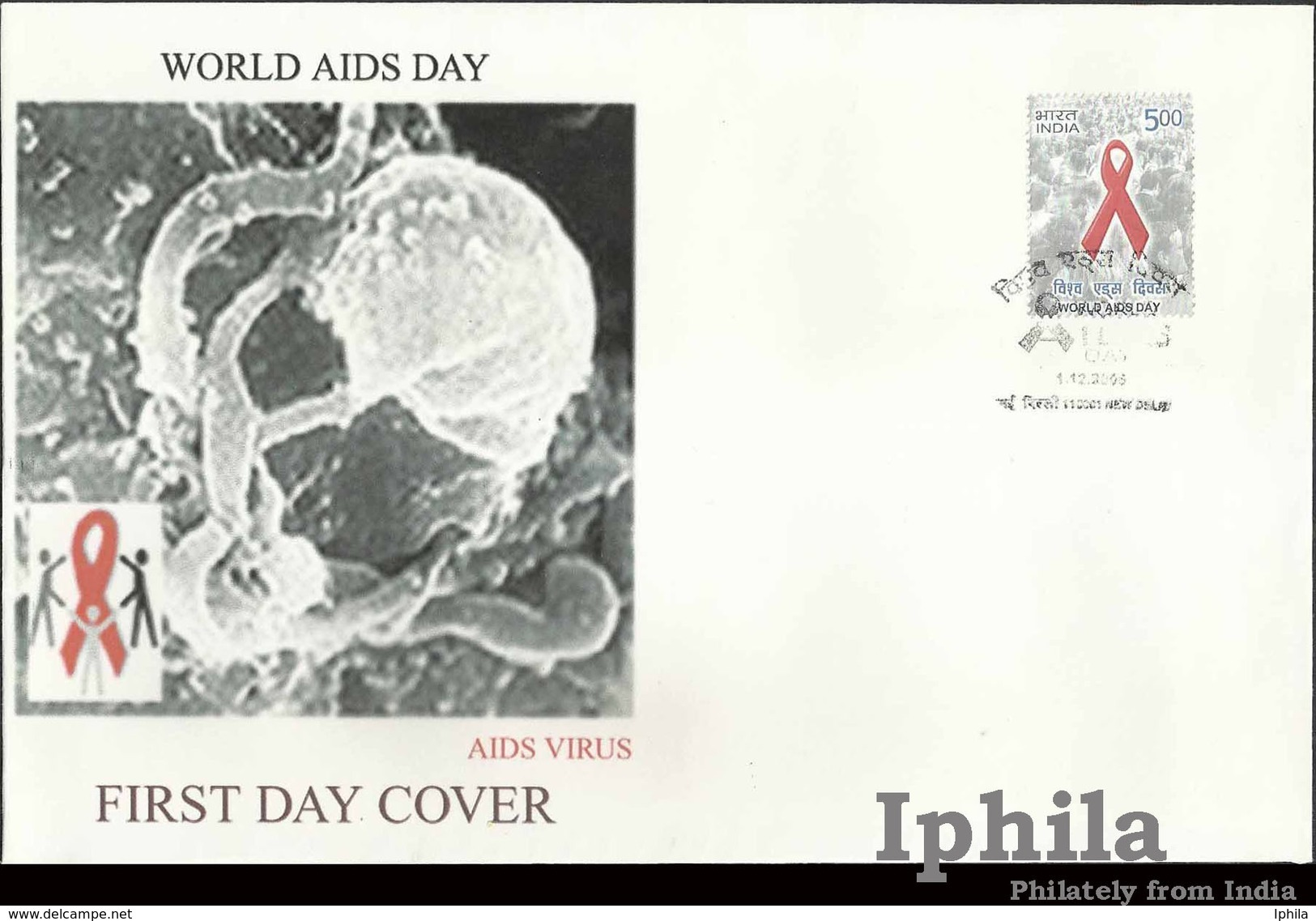 Rare AIDS Virus FDC World AIDS 2006 Ind Private First Day Cover Medical Health Sex Disease Medicine Krankheit Maladie - Disease