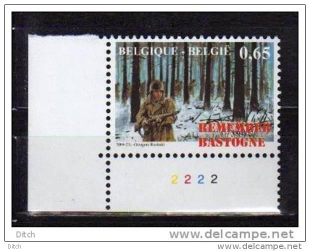 D- BE - N° 3331 PL 2 @XX-MNH@ REMEMBER BASTOGNE, 60 ANS BATAILLE DES ARDENNES LA BATAILLE - 2. Weltkrieg