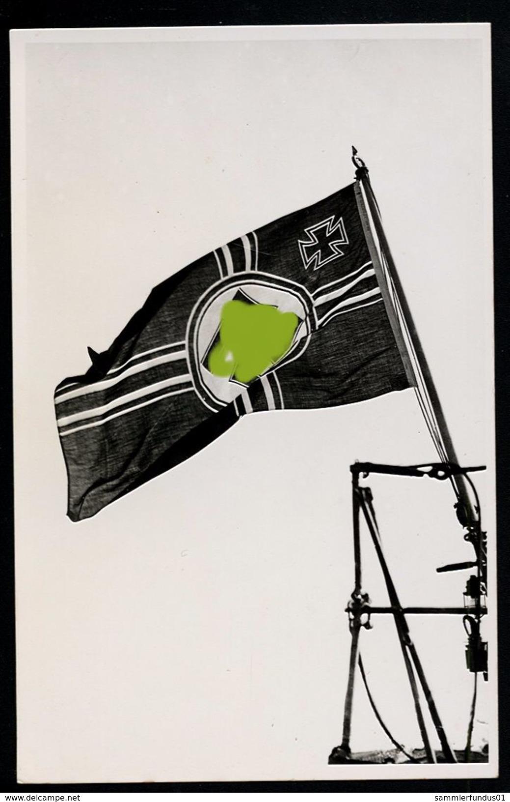 AK/CP  Wehrmacht Kriegsmarine  Reichskriegsflagge   2.WK WW  Ungel./uncirc.  1933-45    Erh./Cond.  2    Nr. 00106 - Guerre 1939-45