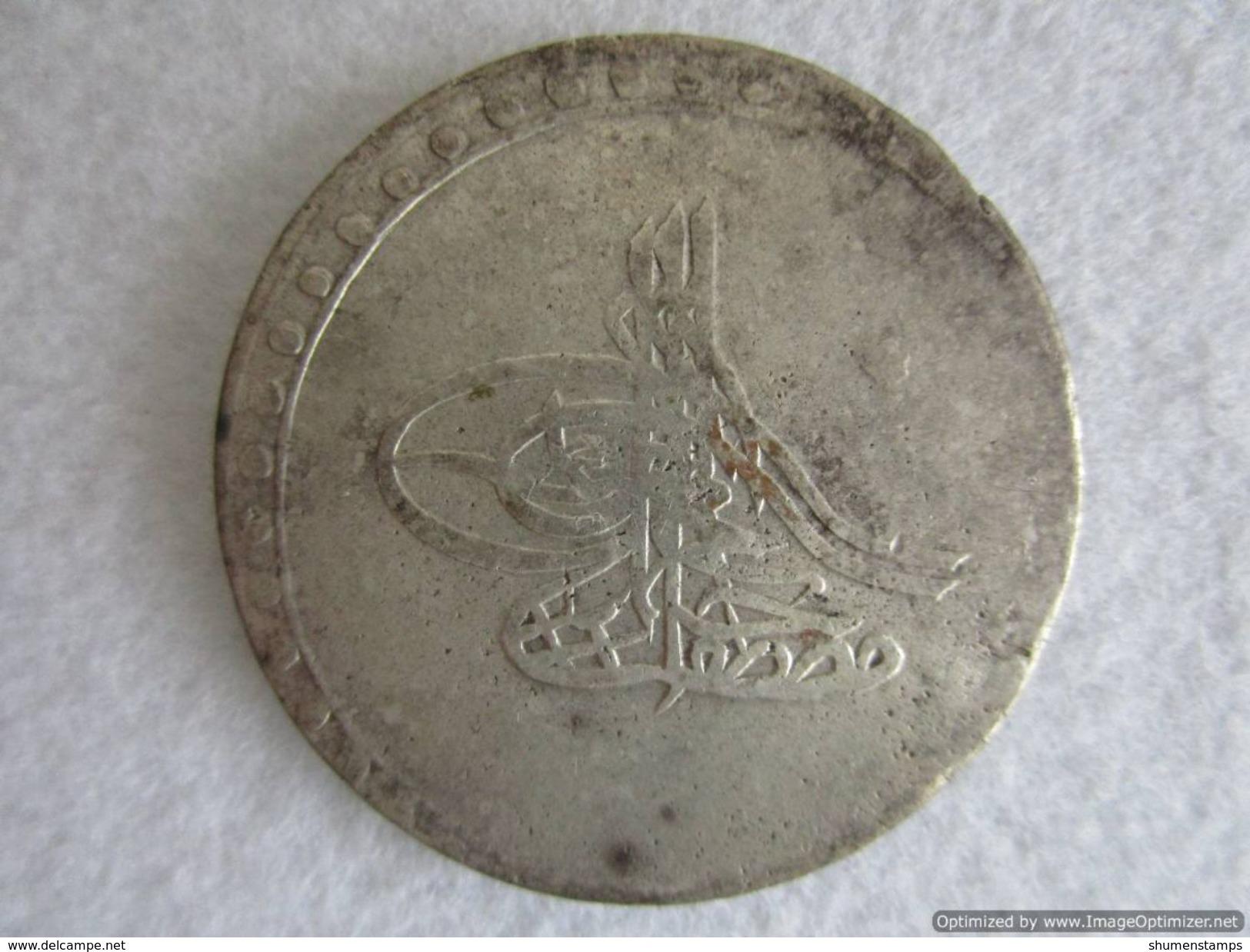 Turkey Ottoman Empire, MUSTAFA III, PIASTRE 1171/4, SILVER 18.42 G, Collectible! - Islamic