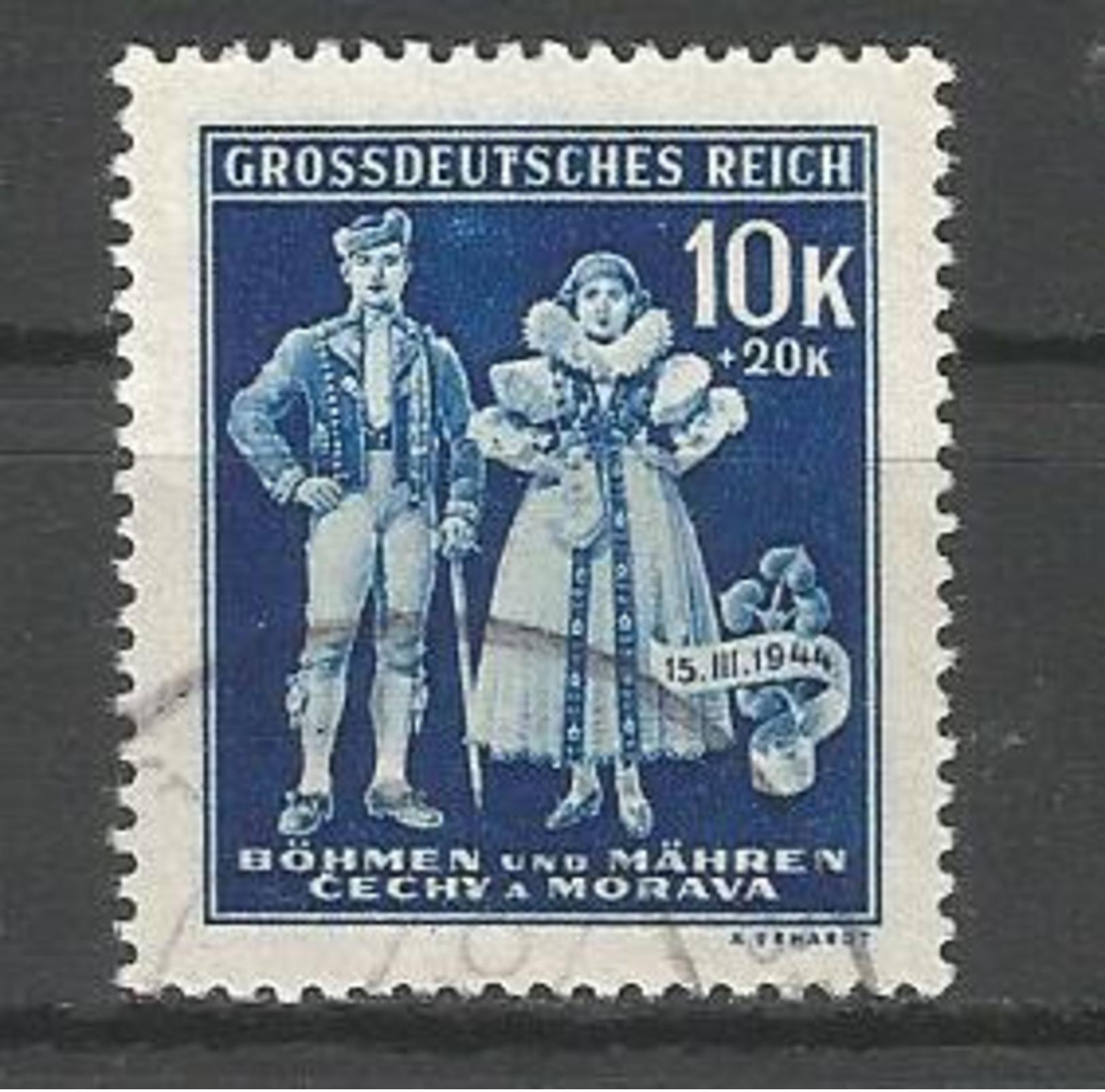 Deutsches Reich / Besetzungen. Trachten, 15.III.1944, Nr. 135 Mit Plattenfehler I, Gestempelt - Besetzungen 1938-45