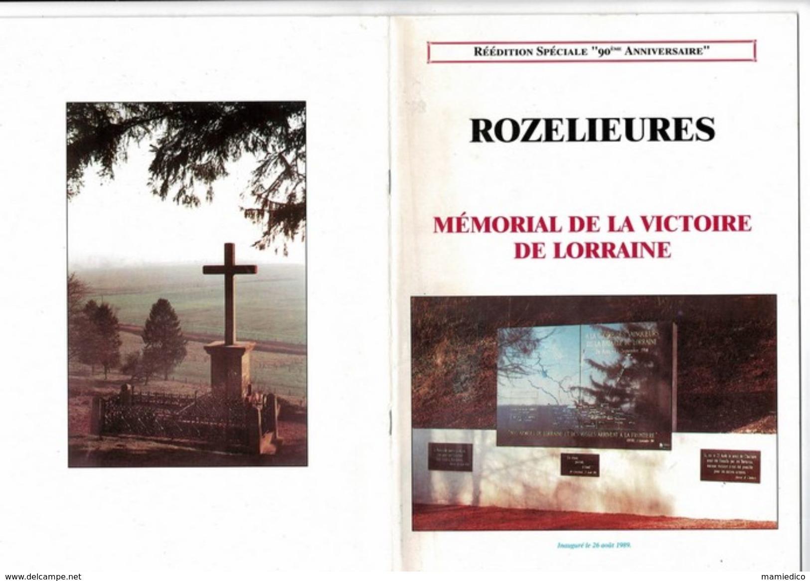 """MILITARIA  Livre Réédition Spéciale """"90 ème Anniversaire De La Bataille De Rozelieures"""" Broché 38 Pages TBE - Books, Magazines  & Catalogs"""
