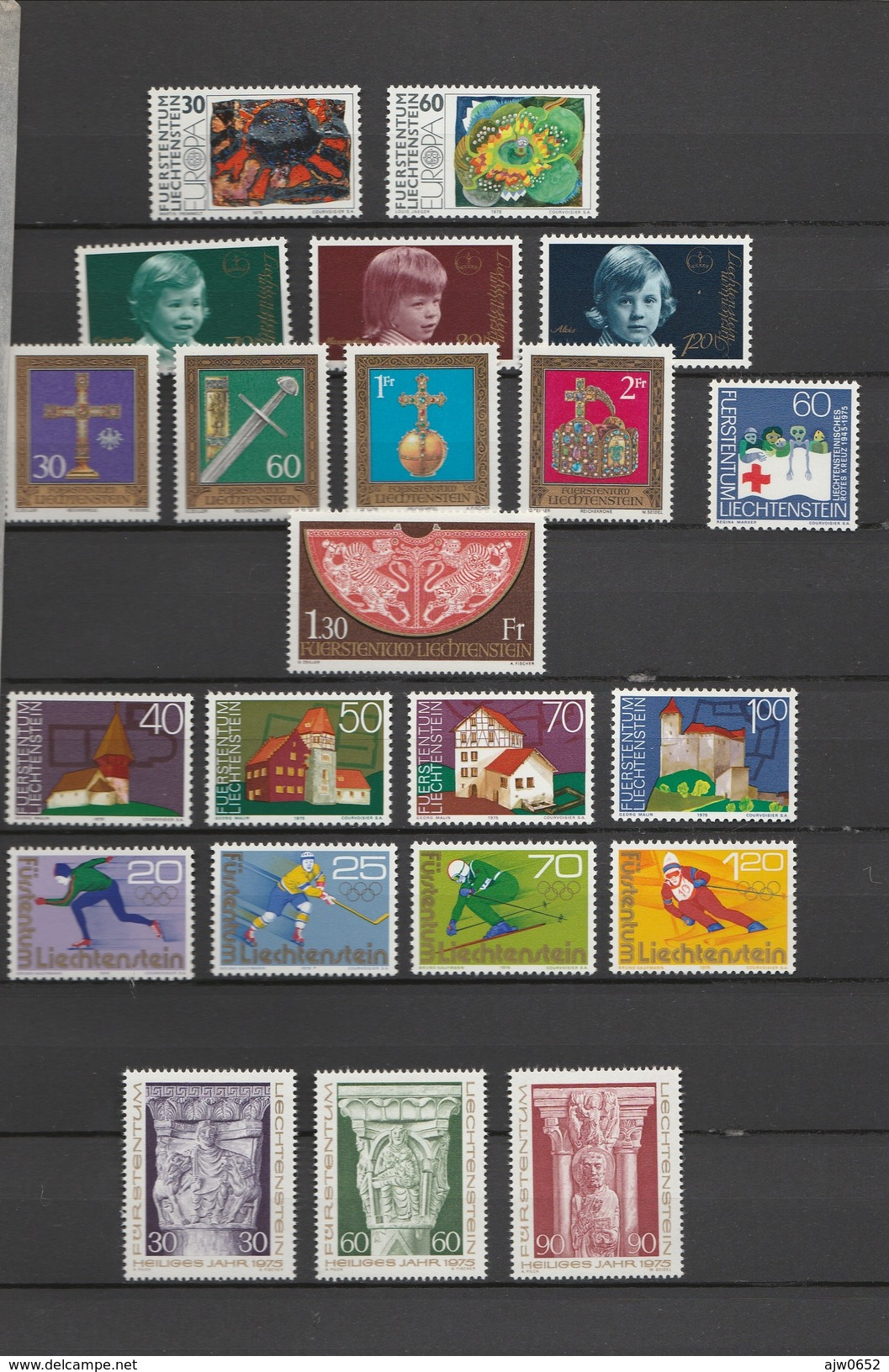 1975 COMPLETE MNH** - Liechtenstein