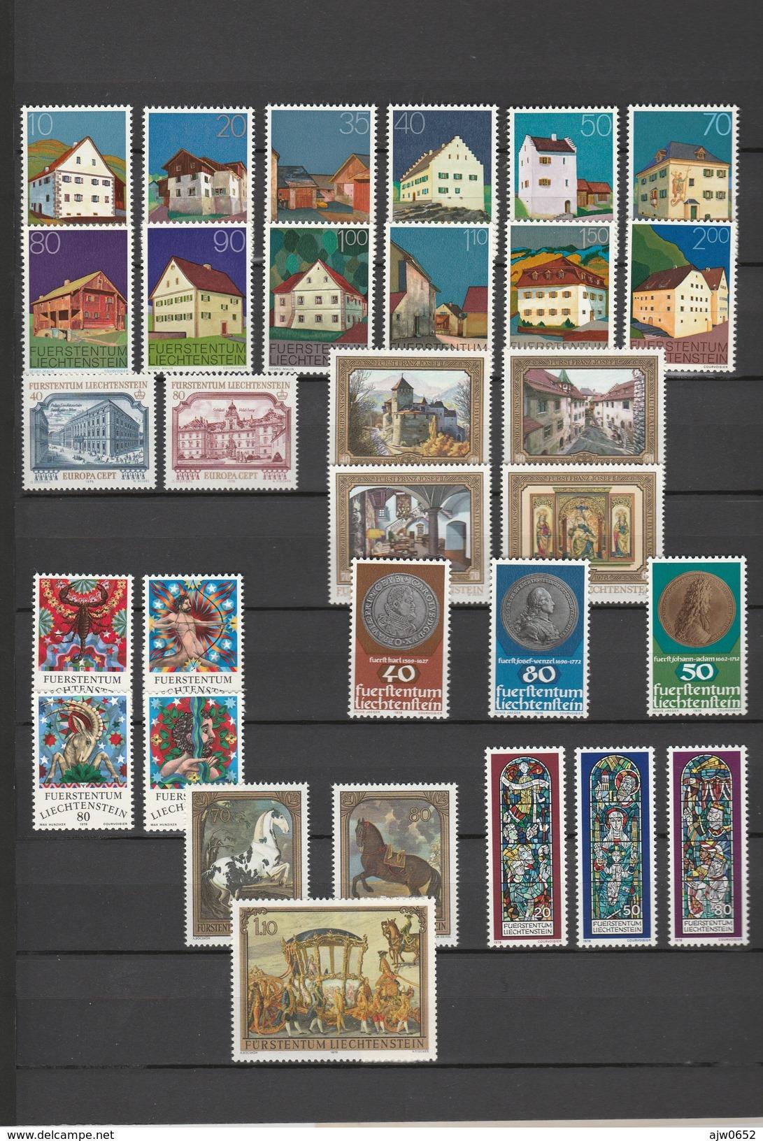 1978 COMPLETE MNH** - Liechtenstein