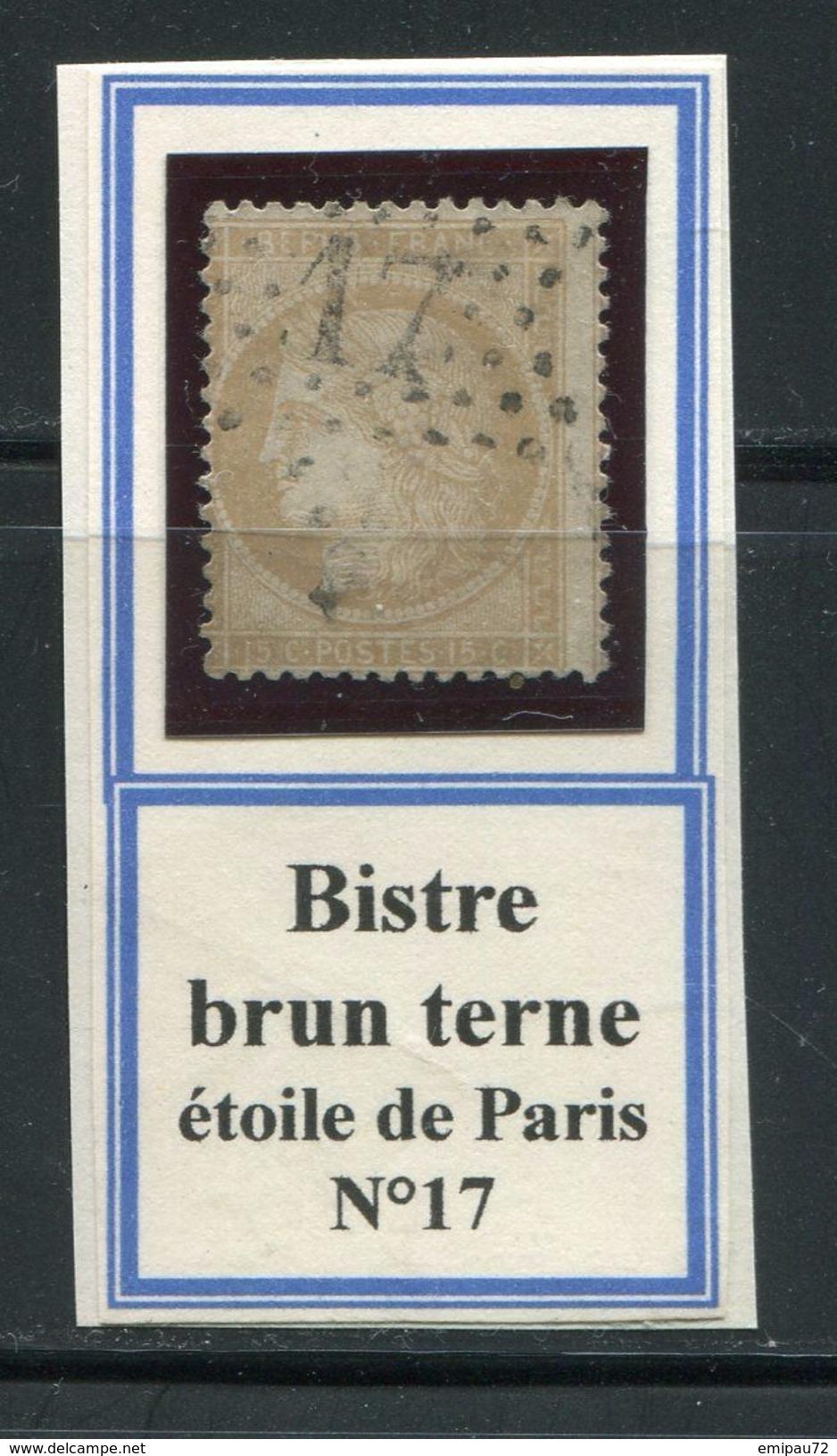 FRANCE- Y&T N°59- étoile De Paris 17 - 1871-1875 Ceres