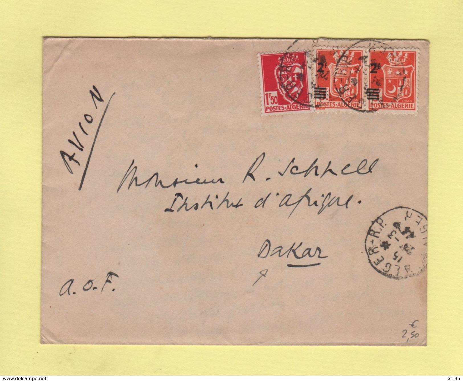 Alger Destination Dakar - 1944 - Algeria (1924-1962)