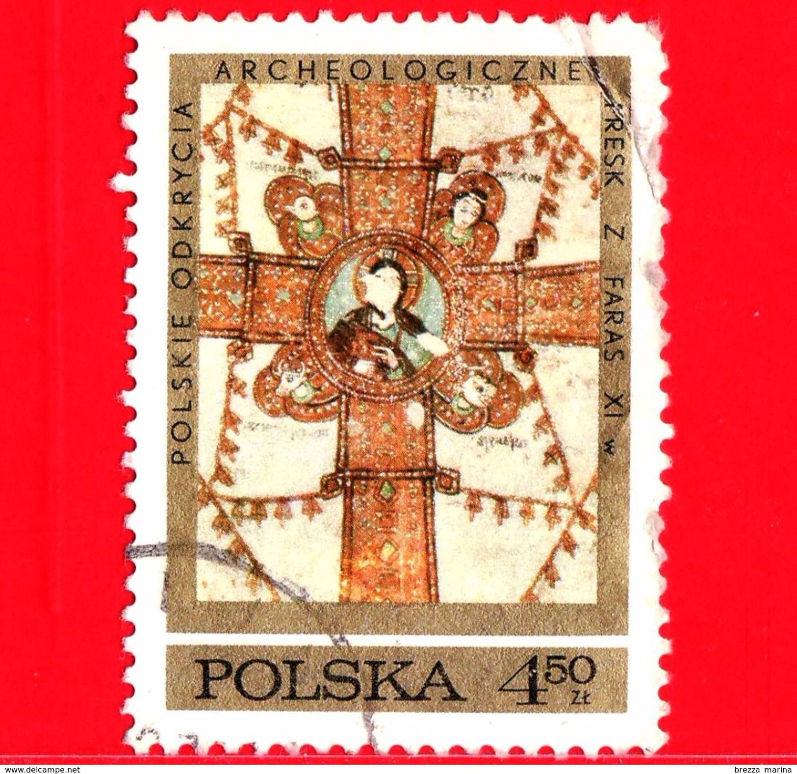 POLONIA - POLSKA - Usato - 1971 - Archeologia - Scavi Archeologici Polacchi In Nubia - Croce - Evangelisti - 4.50 - 1944-.... Republik