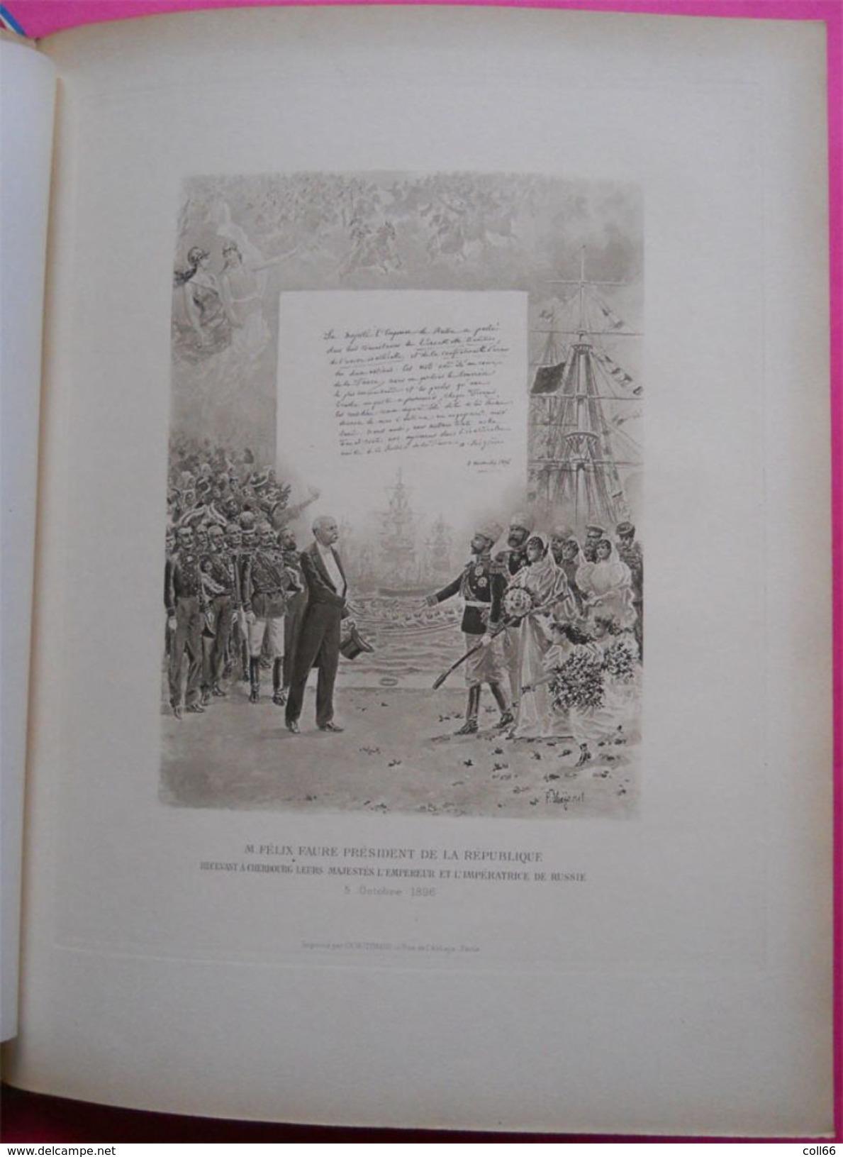 RARE 1891-1898 Le Livre D'Or De L'Alliance Franco-Russe De Philippe Deschamps Tsar Alexandre III Nicolas II - Books, Magazines, Comics