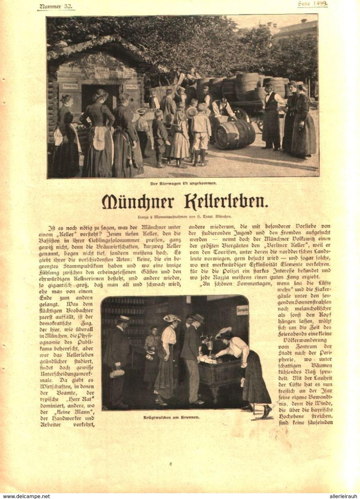 """Münchner Kellerleben,  Aus Dem """"Goldenen Westen"""" (Californien)  / Artikel, Entnommen Aus Zeitschrift/ 1902 - Bücher, Zeitschriften, Comics"""
