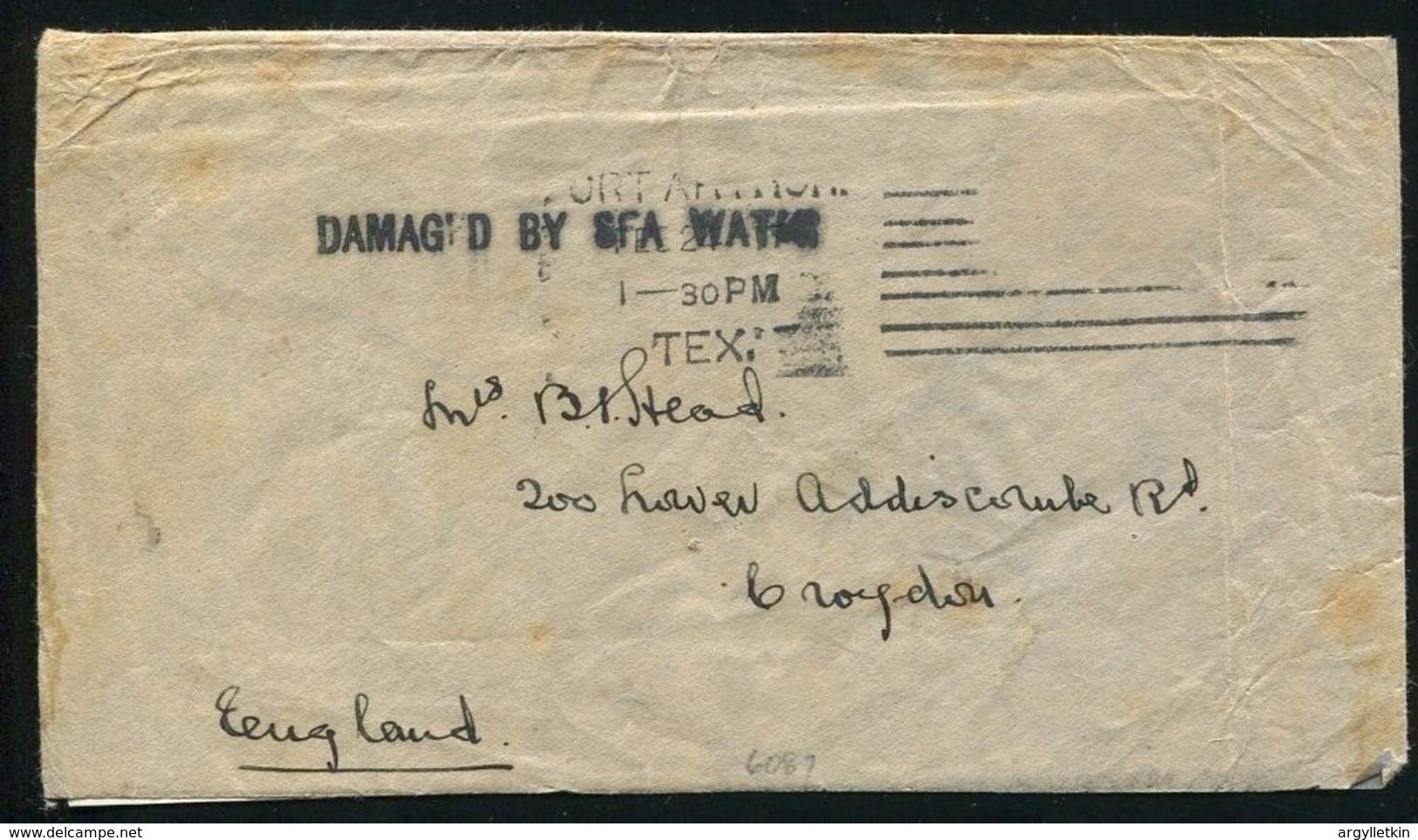 IRELAND CRASH AND WRECK NORWEGIAN WORLD WAR I PORT ARTHUR TEXAS - Postmark Collection