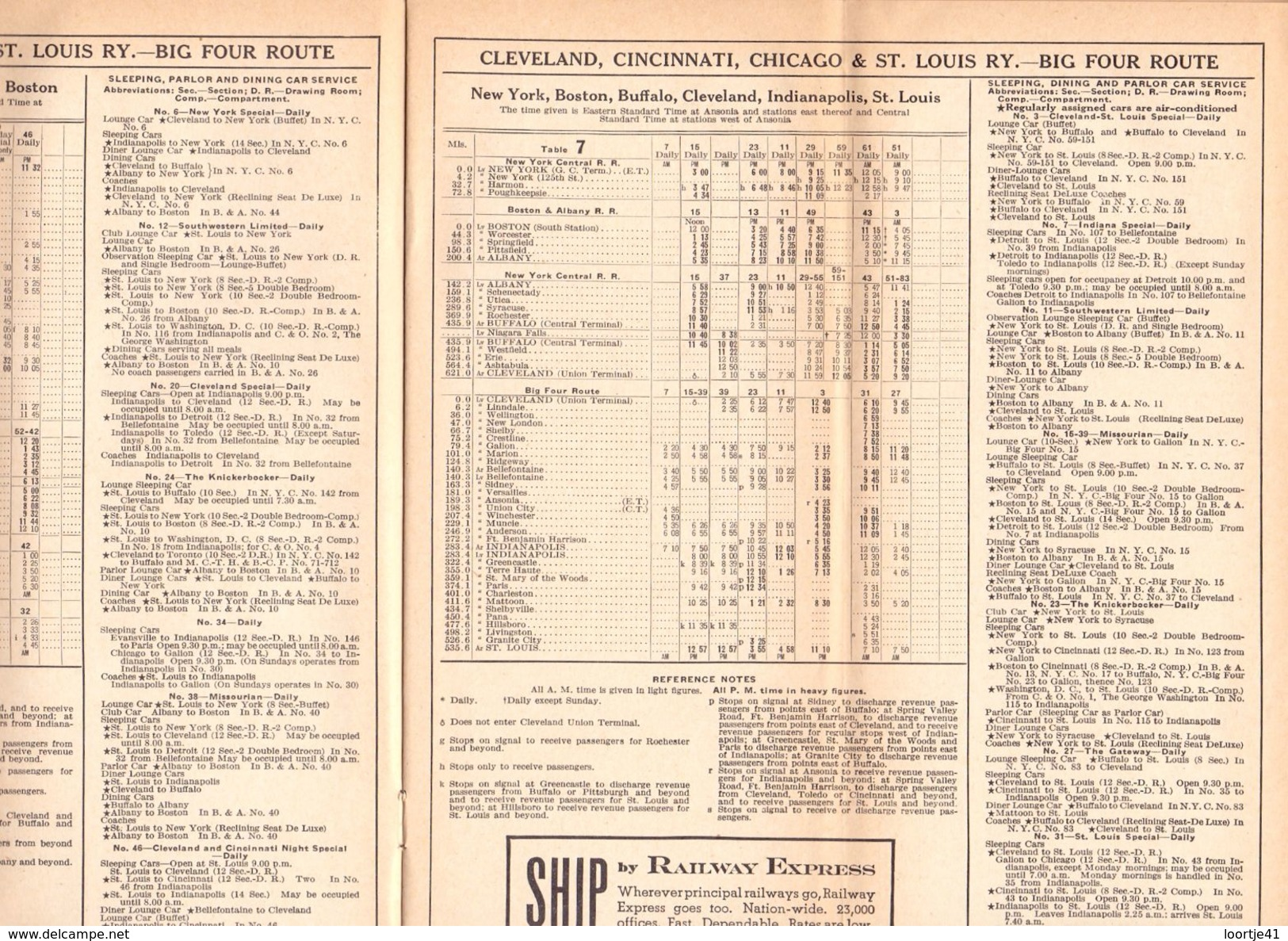 Toerisme Tourisme - Time Tables March 1938 - Trains New York Central System - Dienstregeling Treinen - World
