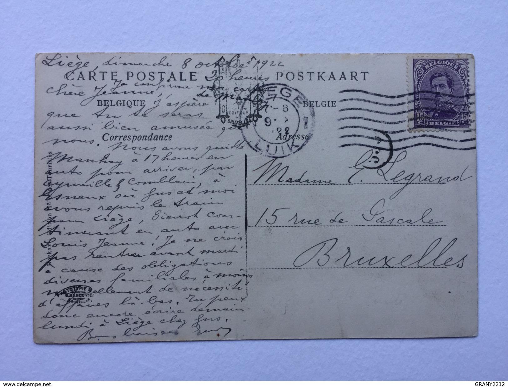 """HOCKAI """" La Rentrée Du Bétail à La Ferme """"  Panorama ,animée ( 1922 ) Édit  Marco-Marcovici . - Stavelot"""