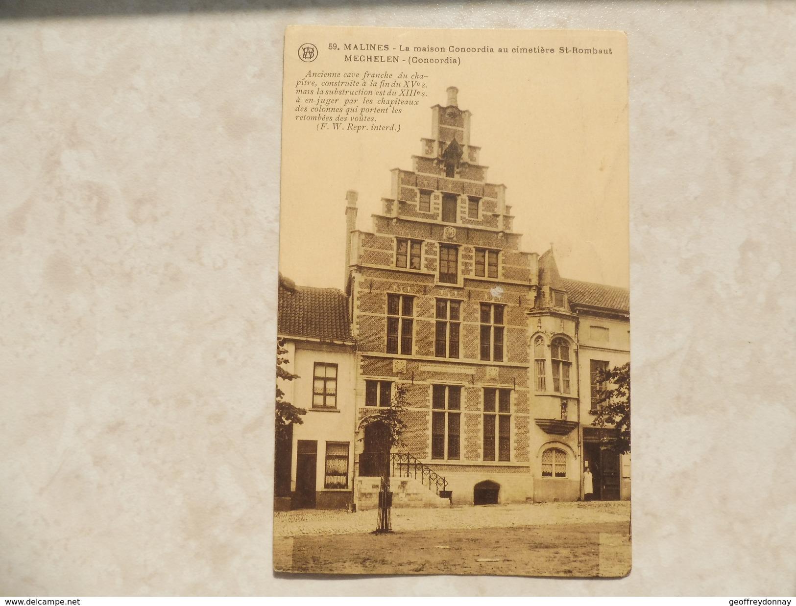 Malines La Maison Concordia Au Cimetiere / Mechelen Concordia - Mechelen