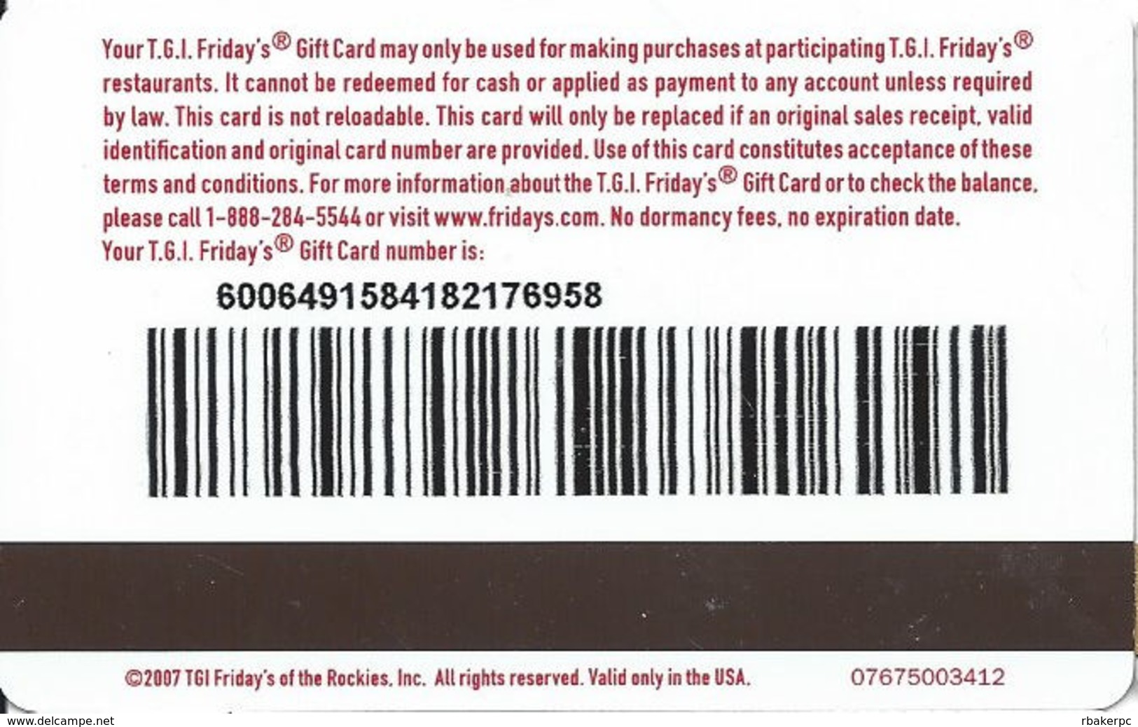 T.G.I. Friday's Gift Card - Gift Cards