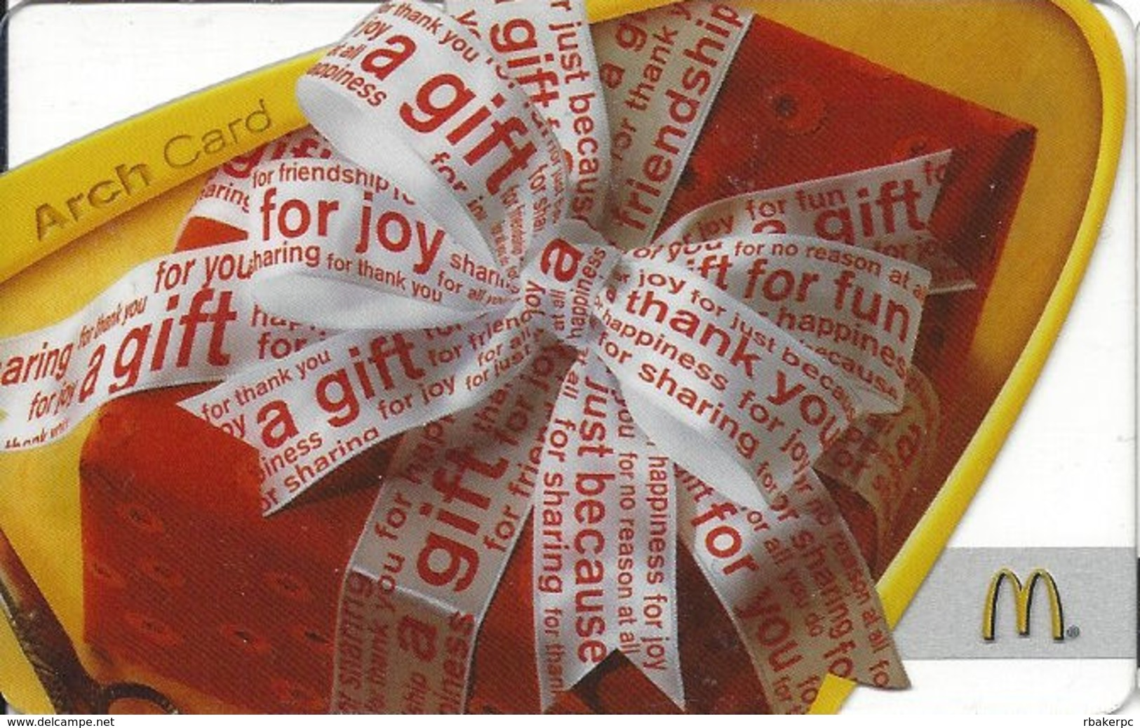 McDonalds Gift Card Copyright 2008 - Gift Cards