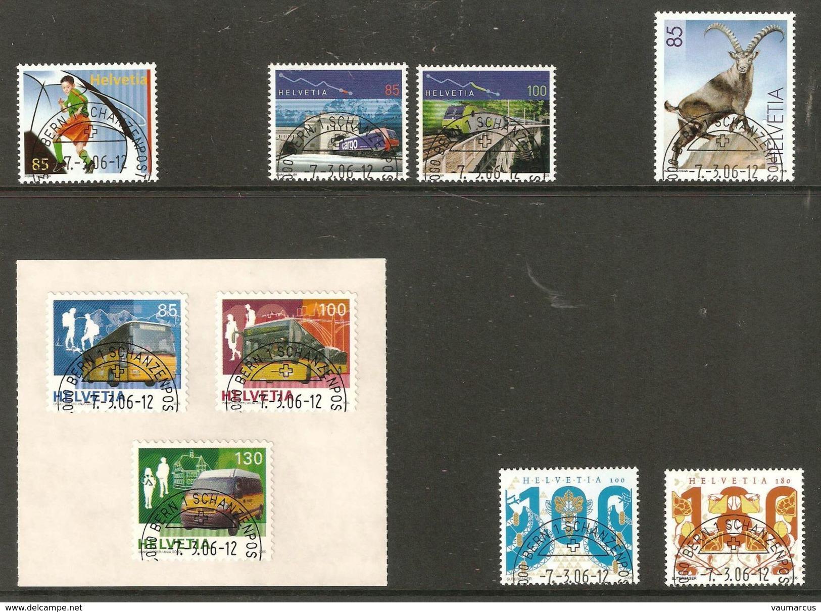 2006 Année Complète Obl. Demi-lune 1er Jour BERN 1 SCHANZENPOST SBK 164,- Voir 5 Scans - Used Stamps