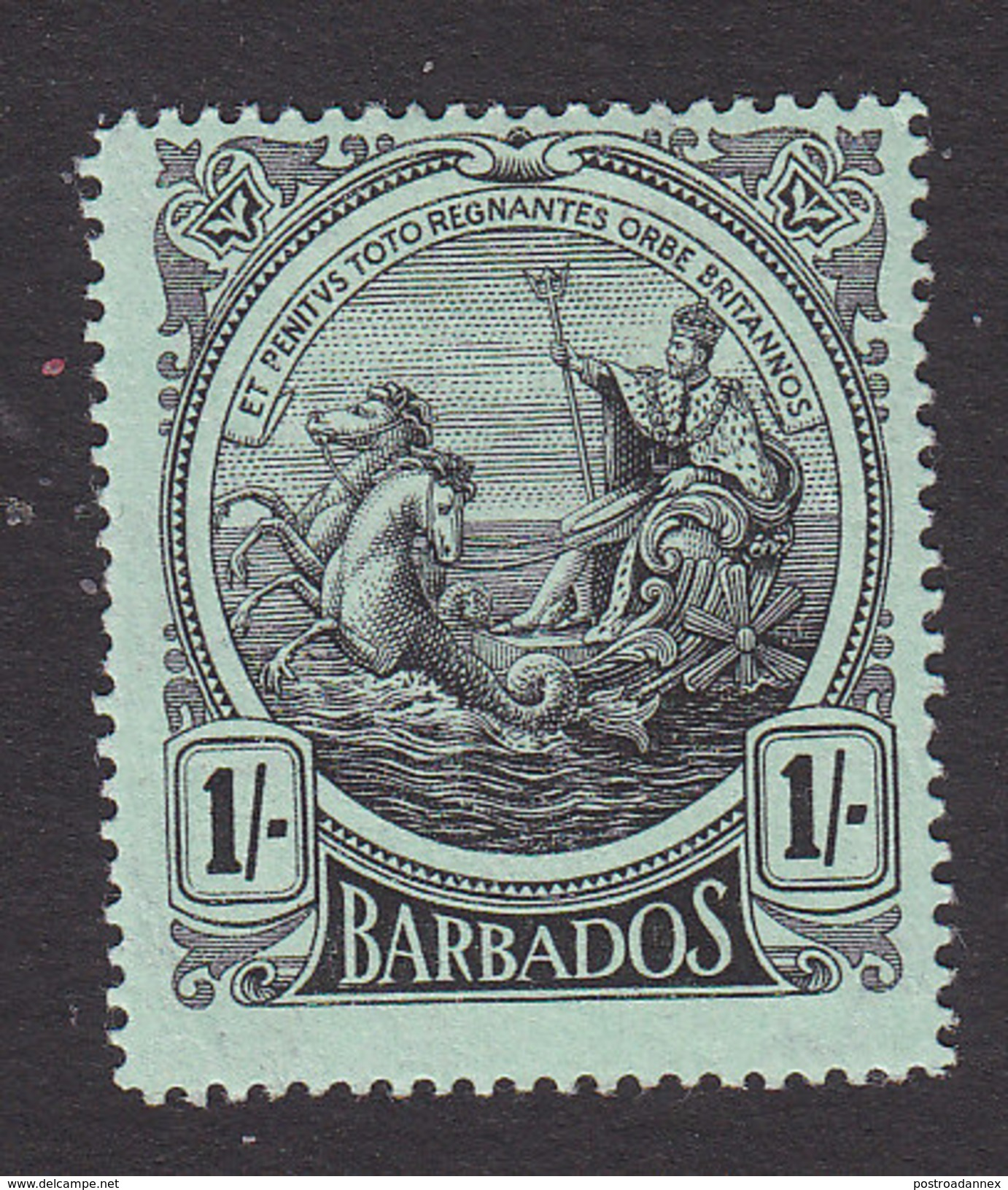 Barbados, Scott #136, Mint Hinged, Seal Of The Colony, Issued 1916 - Barbados (...-1966)