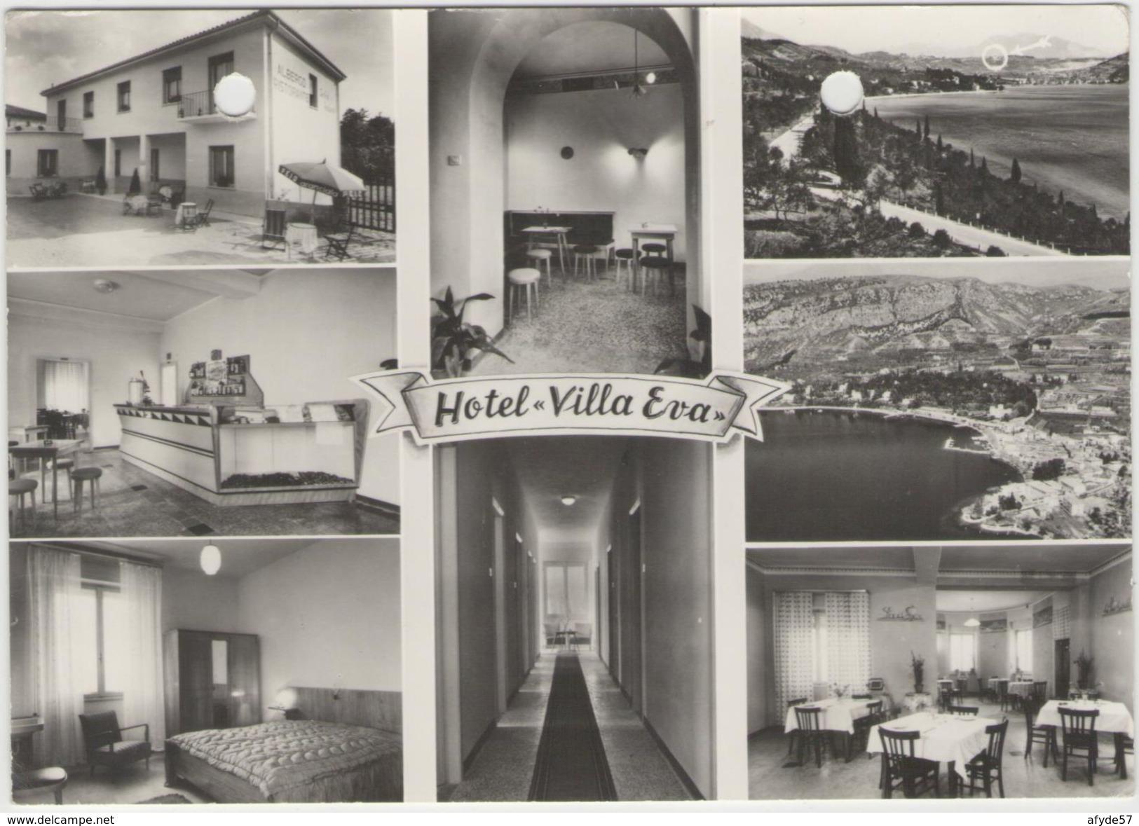 "CPM: COSTERMANO (italie):  Hôtel ""VILLA EVA""  (multivues) (photo Véritable) (D1738) - Alberghi & Ristoranti"
