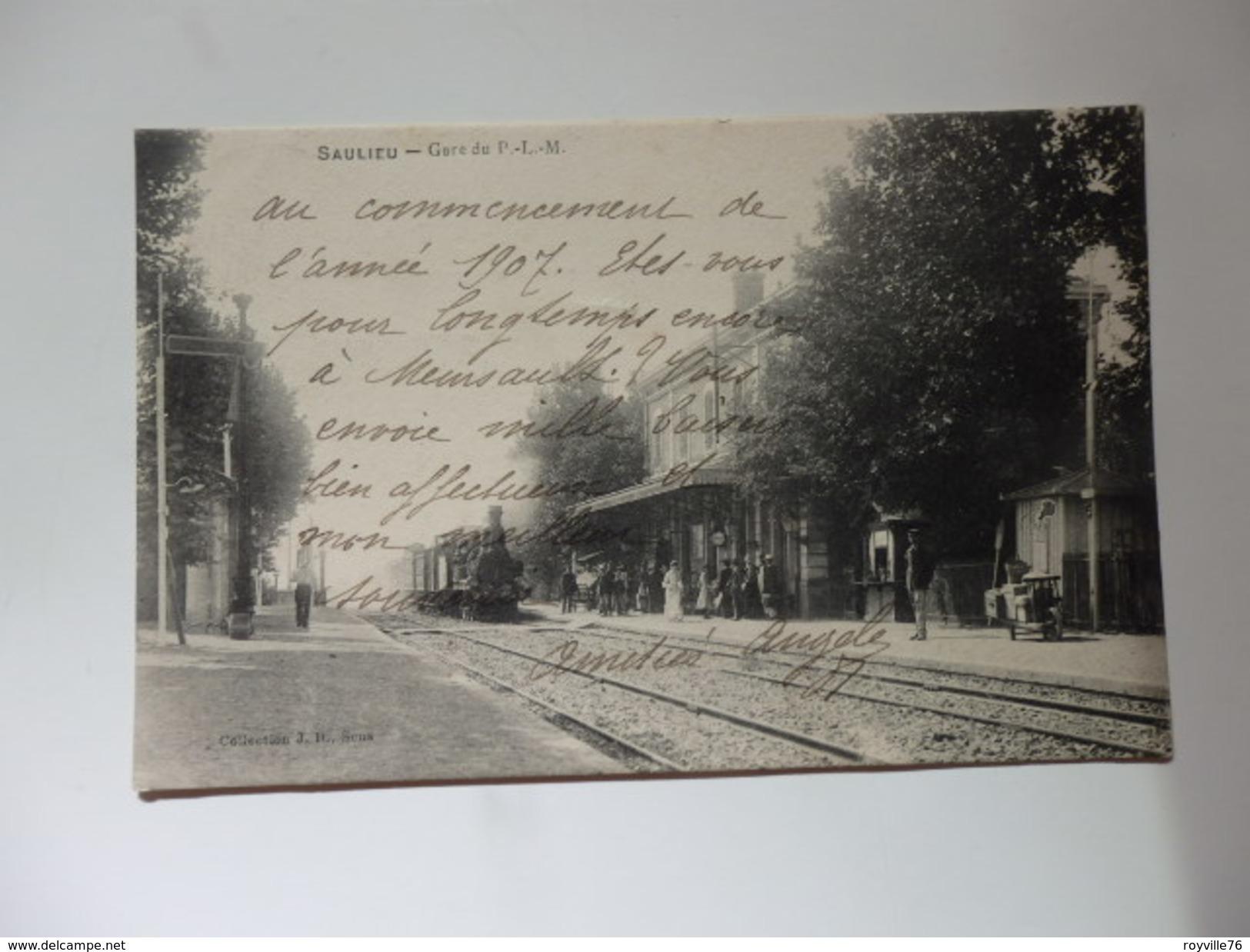 Saulieu, Gare Du P.L.M. - Saulieu