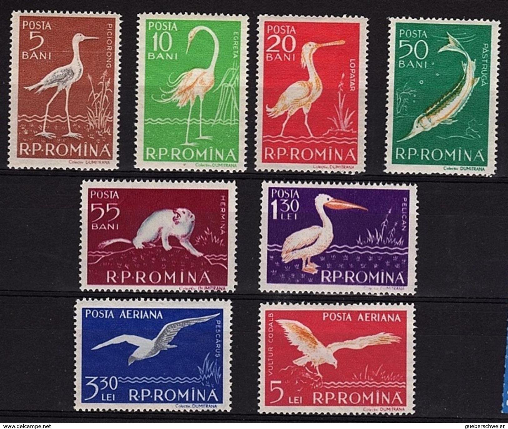 RO 622 - ROUMANIE N° 1552/57 + PA Neufs** Oiseaux - 1948-.... Républiques