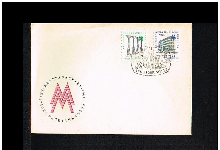 1961 - GDR FDC/Cover - Exhibitions - International Exhibition - Leipziger Messe [DD122] - [6] République Démocratique