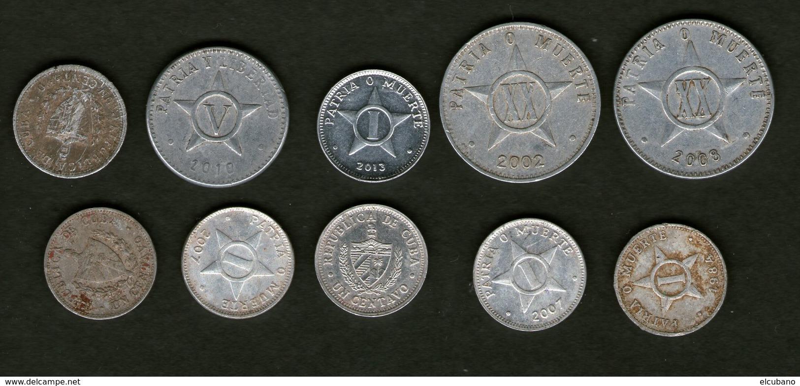 Cuba Kuba Lotto Monete Pesos Centesimi Centavos - Cuba