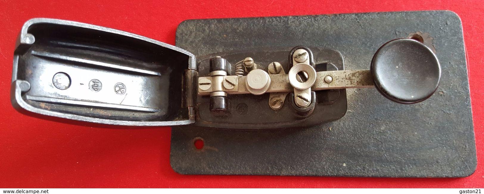 MORSE - MANIPULATEUR DROIT DIT PIOCHE - Manipulateur Morse - Double Contact - T K P - - Radio