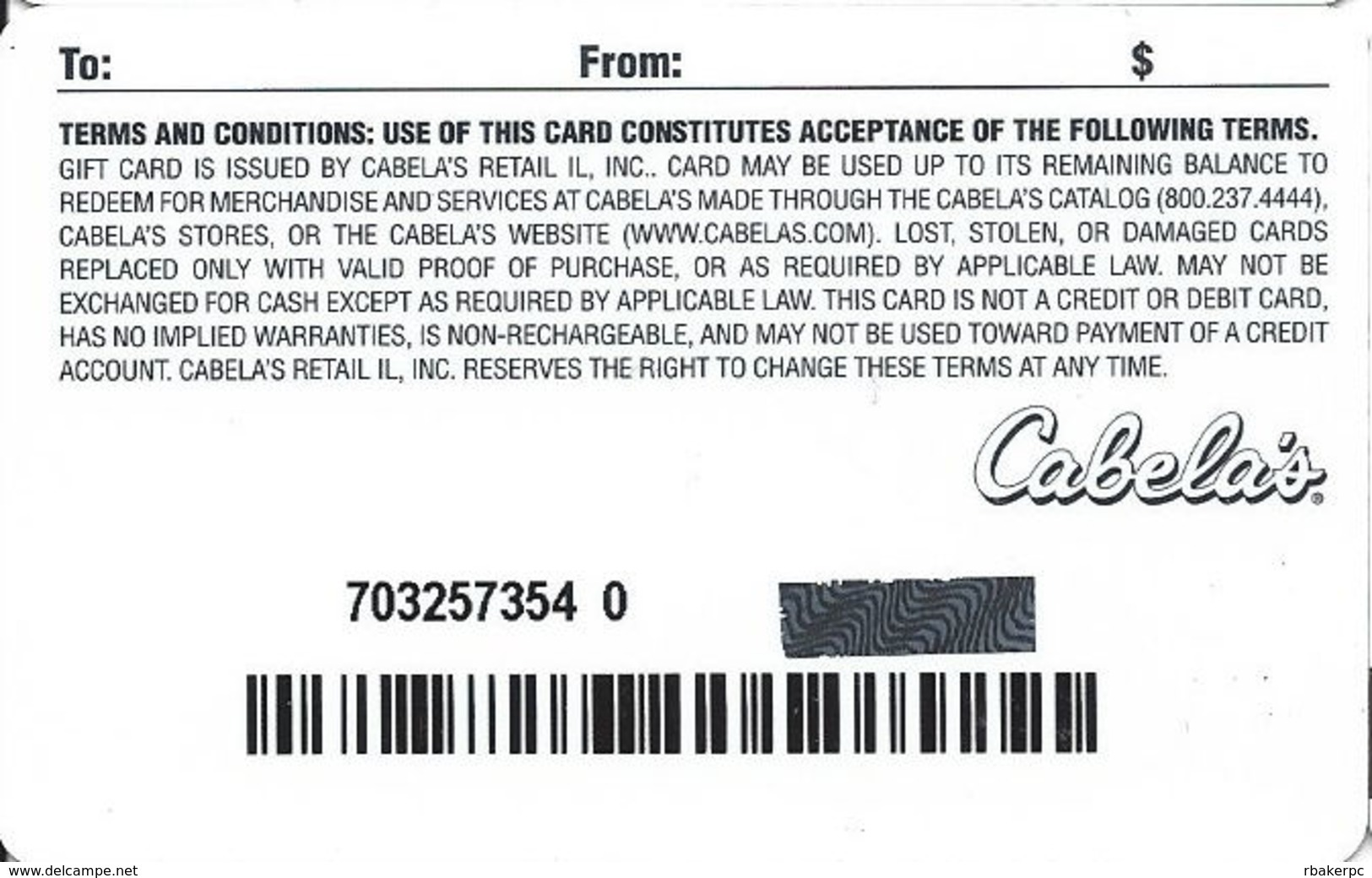 Cabela's Gift Card - Gift Cards