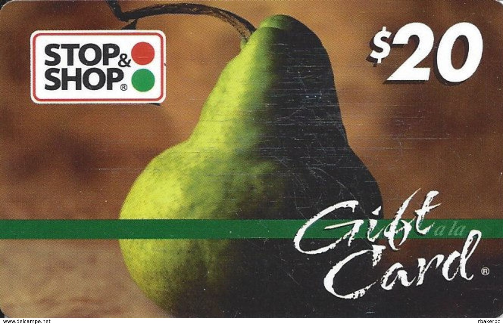 Stop & Shop Food Stores $20 Gift Card - Barcode Bottom Right - Gift Cards