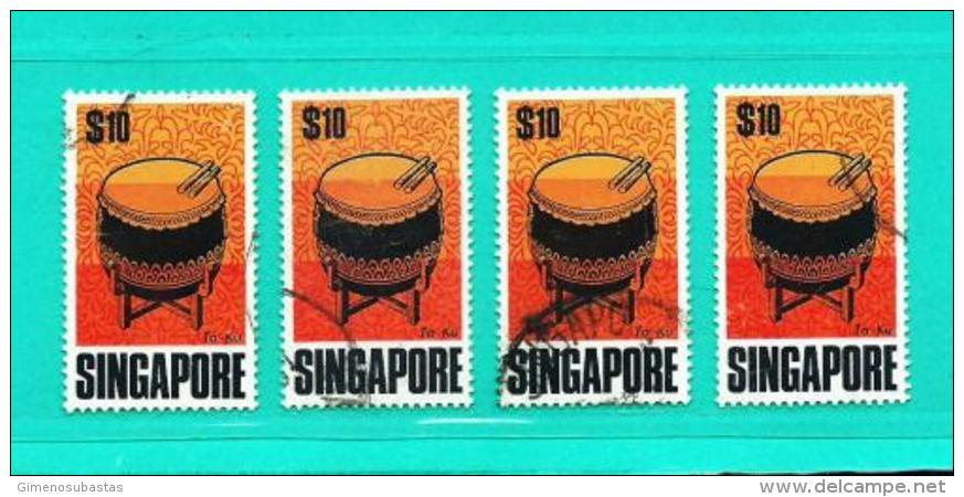 Singapur  Nº Yvert  107 (Lote 4 Sellos)  USADO - Singapour (1959-...)